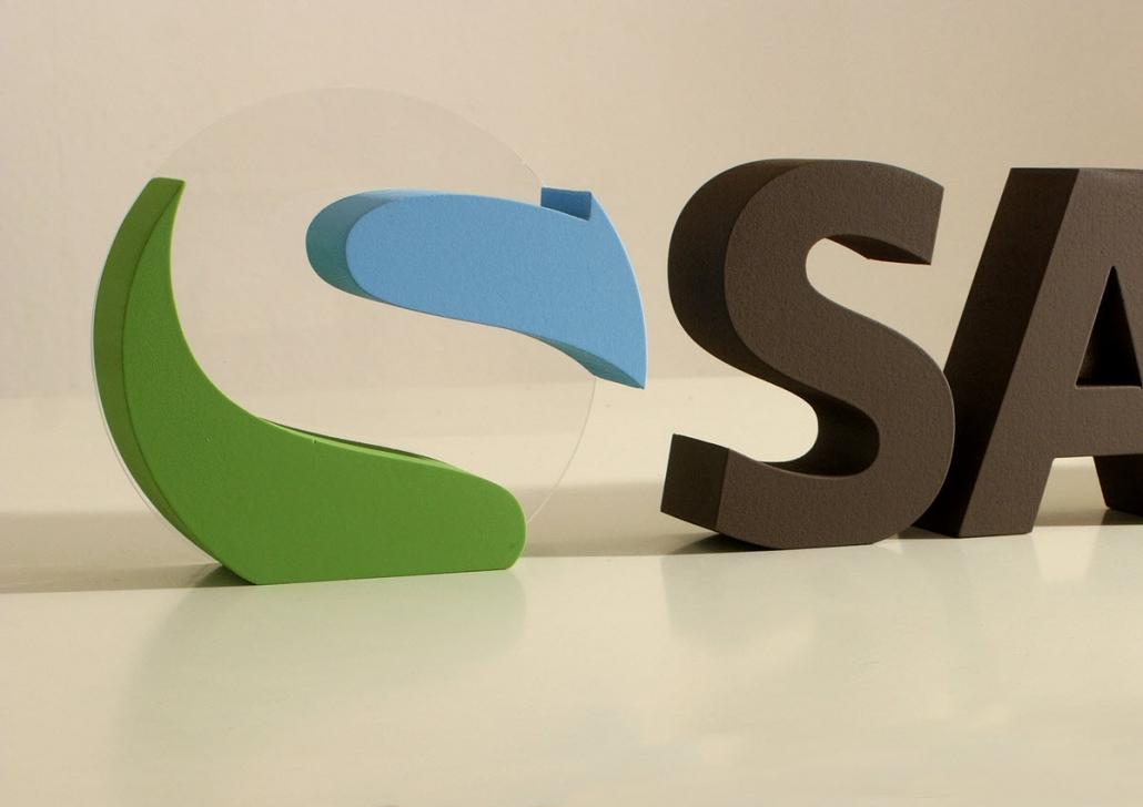 3d logo,3d buchstaben, aus styrodur, hartschaum