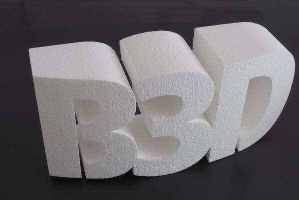 3D Logo aus Styropor