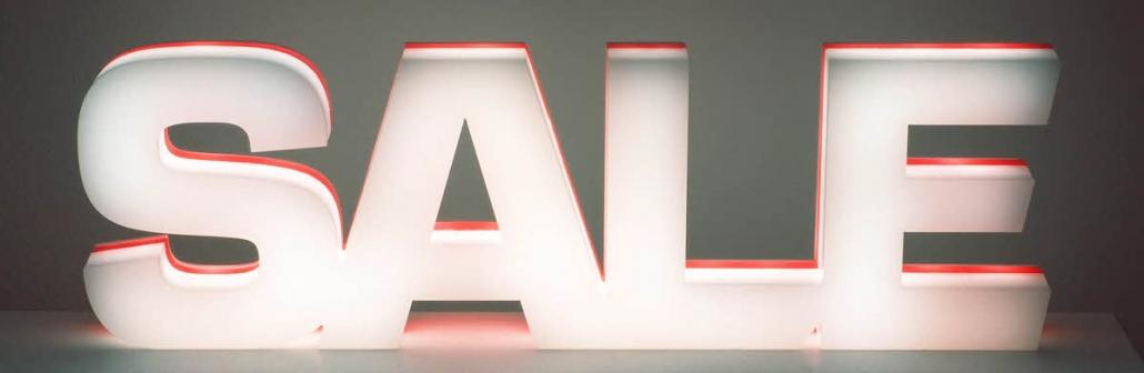 3D Leuchtbuchstaben, LED Schriftzug SALE