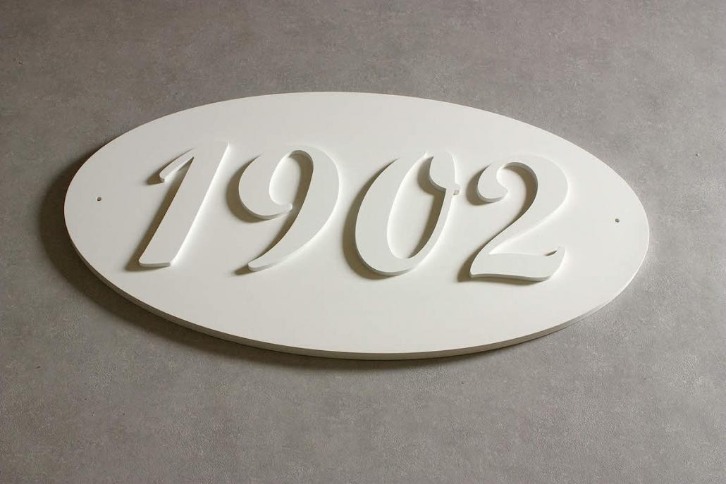 Firmenschilder mit 3D Beschriftung, 3D Schild aus PVC-Hartschaum