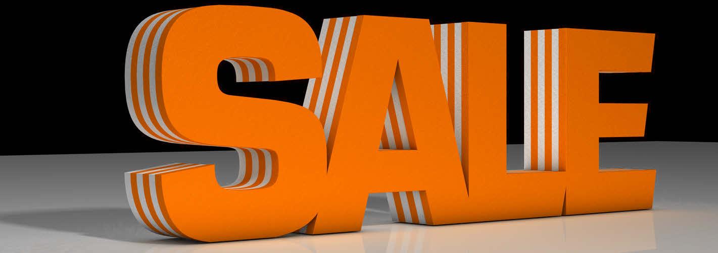 3D Text SALE, aus XPS, Styrodur