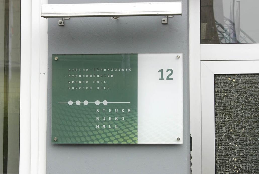 Acrylglas Schild, Kanzleischild, Praxisschild, mit Hinterdruck