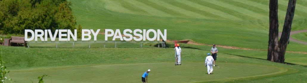 Aluminium Profilbuchstaben, für Golfturnier in Südafrika