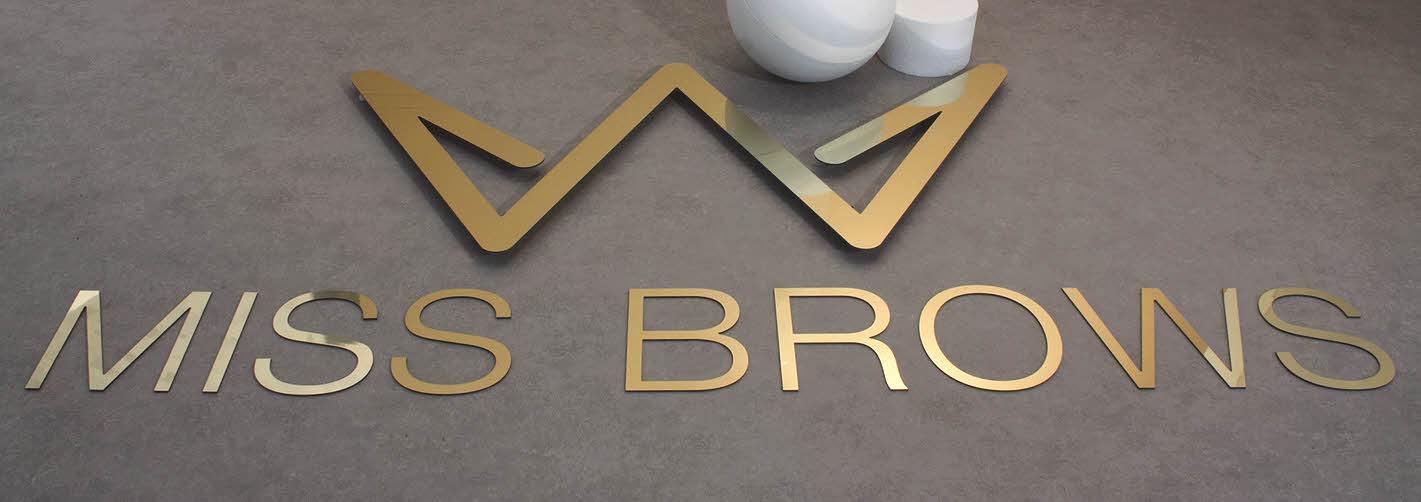 3D Logo, Dibond, Gold