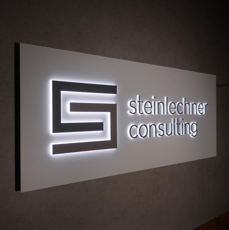 Leuchtschilder & Lichtwerbekästen, 3D LED Leuchtschild, mit Seitenleuchter Acrylglasbuchstaben, 3D Buchstaben