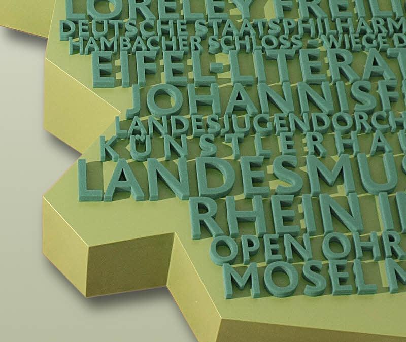 Buchstaben aus PE Weichschaum