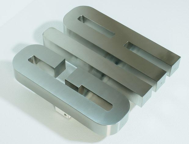 3D LED Buchstaben, Profil 3 Edelstahl, Rückleuchter