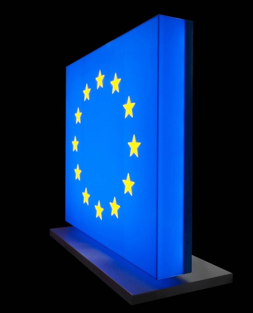 LED Logo, Leuchtkasten, Profil 8, Aufsteller