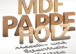 3D Beschriftungen für Innenbereiche,3D Buchstaben aus Holz,Pappe, MDF