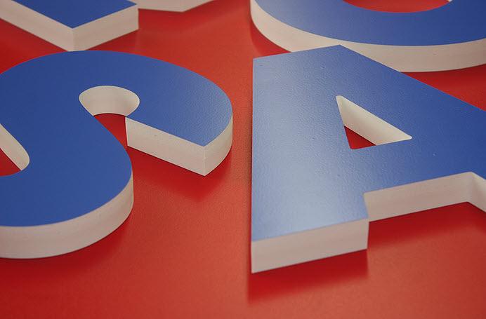 PVC Hartschaum Buchstaben