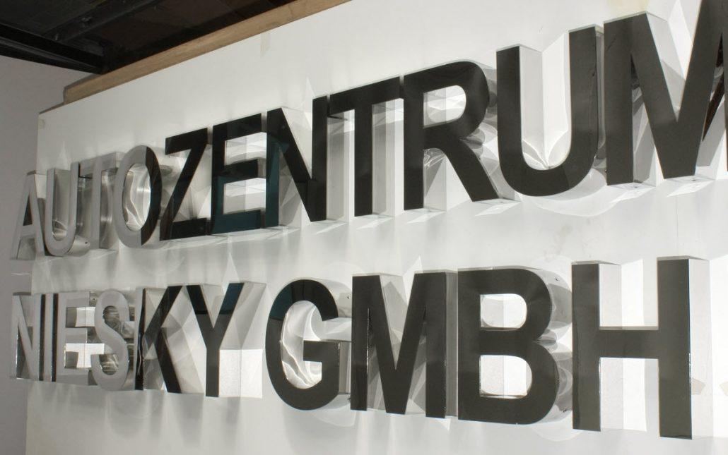 Polierte Edelstahl Profilbuchstaben Typ 01 Premium