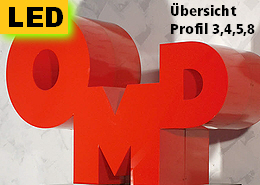 3D LED Buchstaben Profil 3, 4, 5, 8
