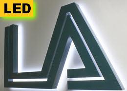 Profil 3 Portfoliobild, 3D Beschriftungen für Außenbereiche, LED Buchstaben
