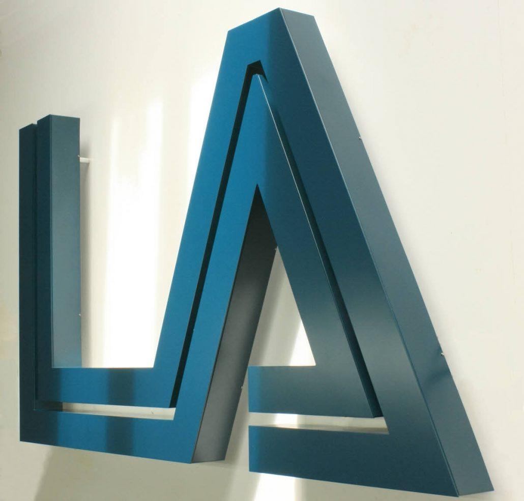 Profilbuchstaben, Profil 01, aus Aluminium
