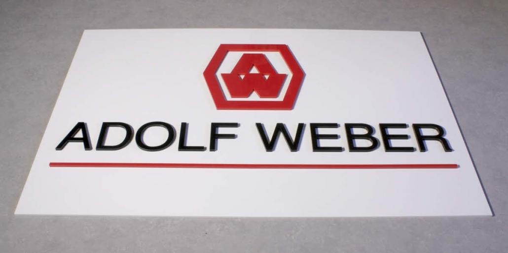 Firmenschilder mit 3D Beschriftung, Schild mit 3D Acrylglas Beschriftung