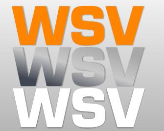 Folienaufkleber Text WSV