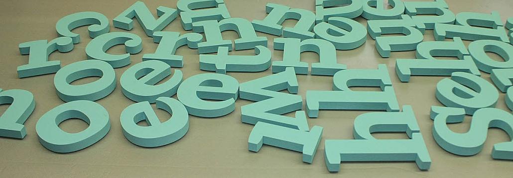 XPS Hartschaum Buchstaben, 20 mm Materialstärke