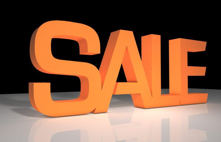 Schaufensterausstattung, 3D Text, 3D Buchstaben, SALE, Prozentzeichen, VKF, POS, Rabattaktionen