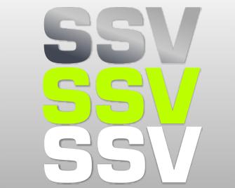 Folienaufkleber Text SSV