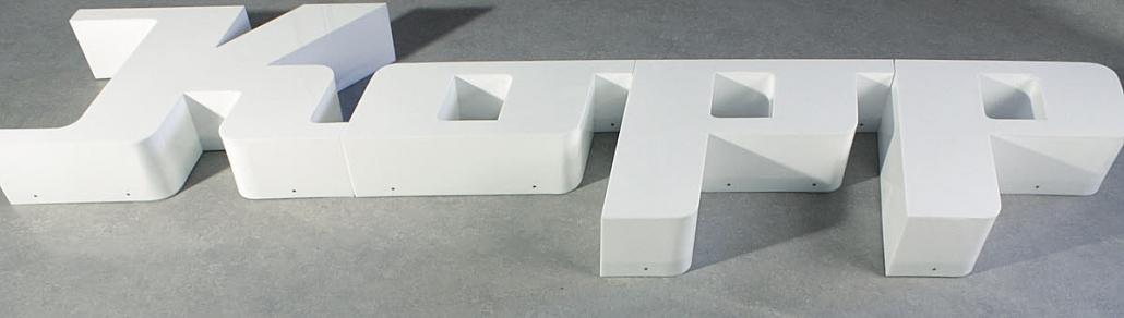 Profilbuchstaben Profil 8 Acrylglas Front-Seitenleuchter