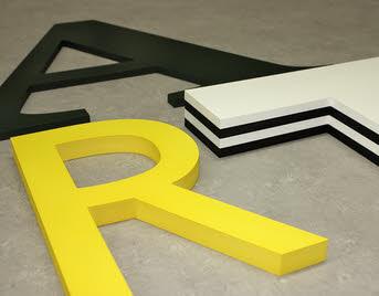 3D Beschriftungen für Innenbereiche,PVC Hartschaum Buchstaben, 3D Beschriftungen für Außenbereiche, Buchstaben