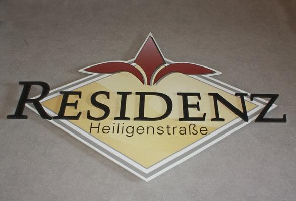 Firmenschilder mit 3D Beschriftung, PVC-Hartschaum 3D Logo