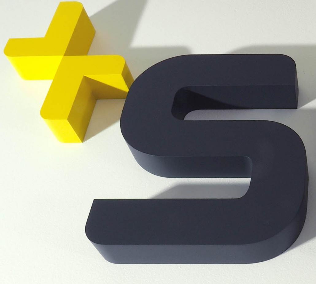 Profil 01, 3D Buchstabe und 3D Logo aus Aluminium